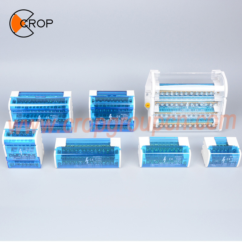 terminal box junction box with terminal block din rail copper busbar