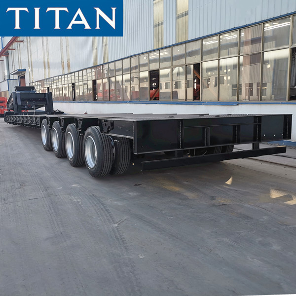 4 Axle 100 Ton Removable Gooseneck Lowboy Trailer for Sale in Chile