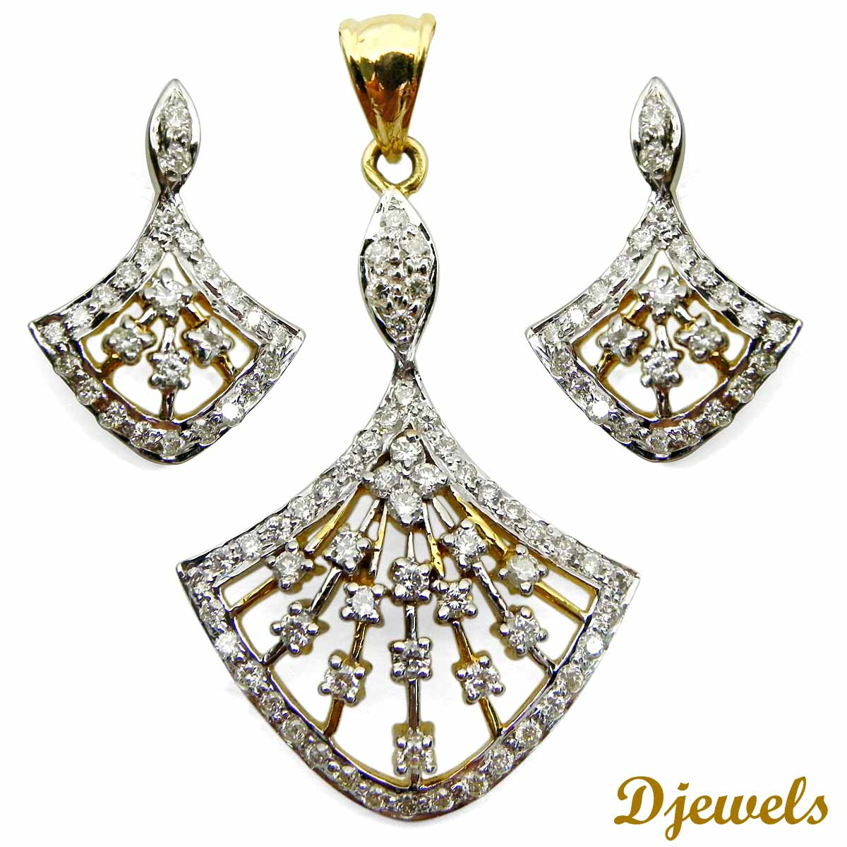 Diamond Pendant Set Talia Leaf