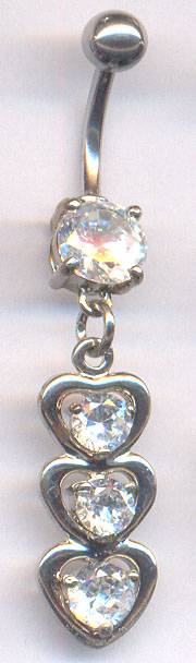 surgical steel belly ring body piercing jewelry