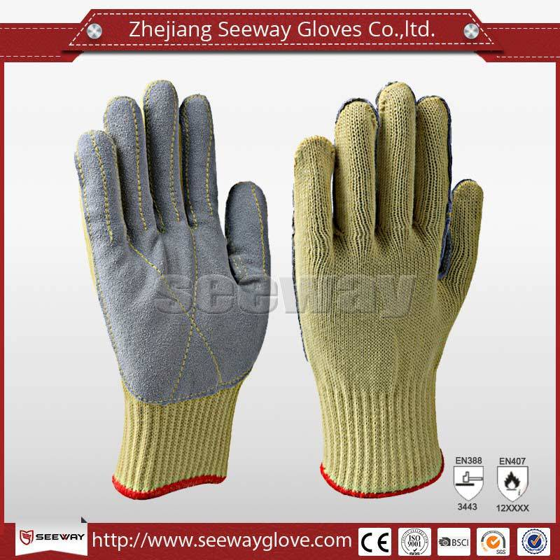 SeeWay B506 Cut resistant heat resistant Leather glove for welding use wholesale