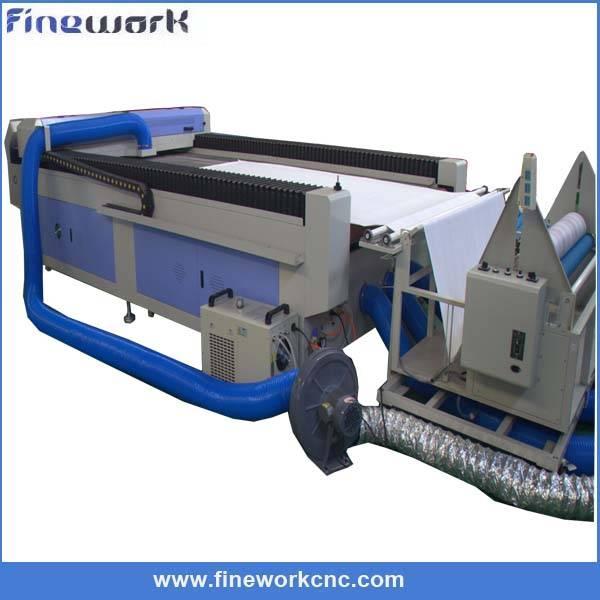 High speed fabric cnc laser cutter auto feeding laser cutting machine for leather cutton garment