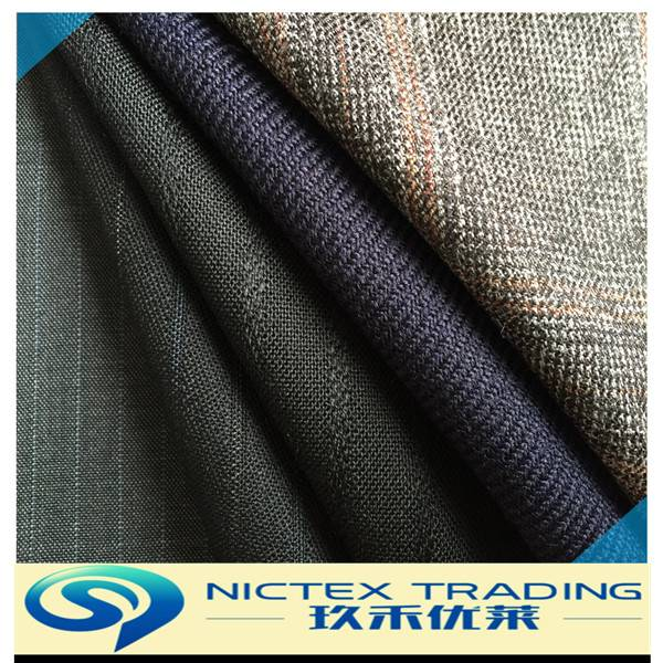 wool polyester suiting fabric for men