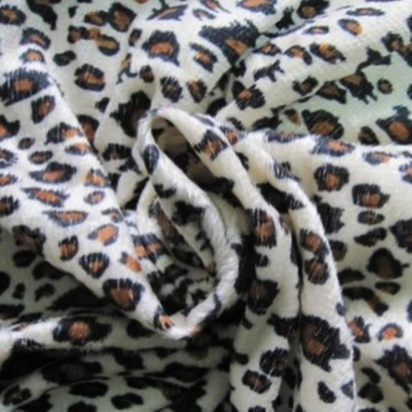 polyester knit fabric/wholesale animal printed velboa skin for rocking horse toy fabric