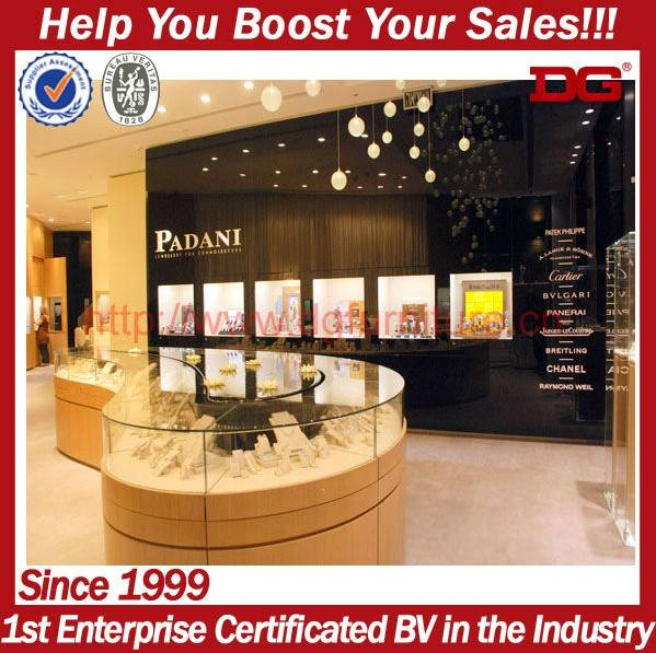 hot selling high-grade jewelry showroom furniture jewelry display showcase