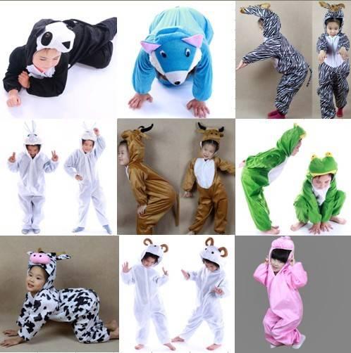 New Pajamas Kigurumi Children's Unisex Cosplay Animal Costume Onesie for Kids