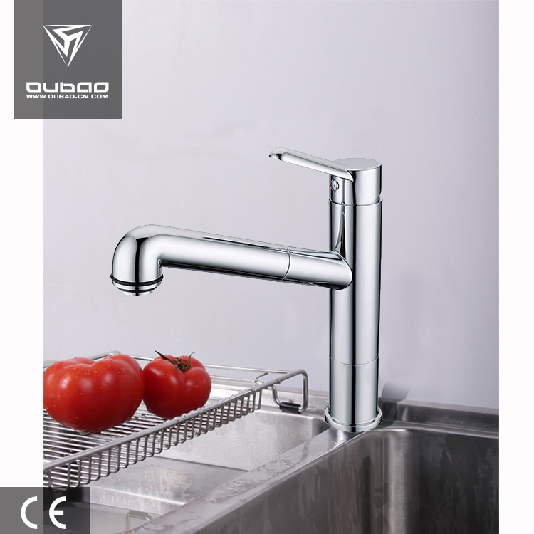 Special nozzle made water faucet chrome plating pull out kitchen mixer