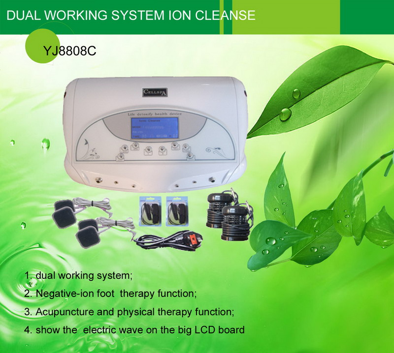 Dual Working System acupuncture Ion Cleanse