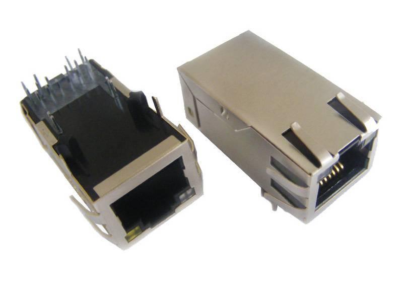 1x1 1.3inch PoE RJ45 connector with 1000Mbps transformer