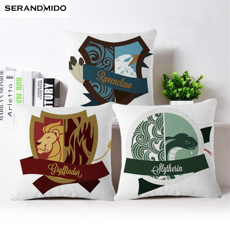 Cushion Cover Harry Potter Series Linen Pillow Case Home Sofa Decorative Throw Pillow Case Cover