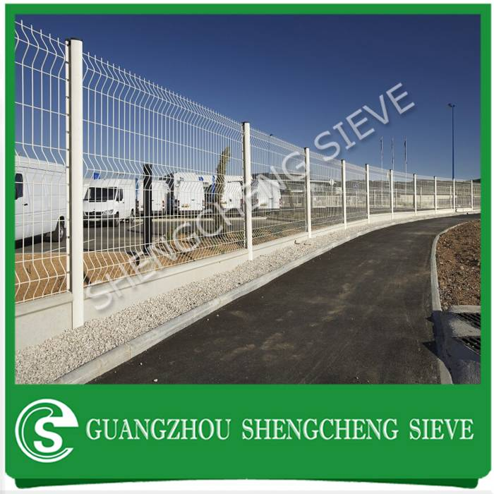 Powder coated galvanized steel welded wire bending fencing for factory enclosure