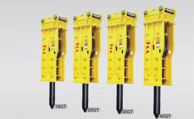 Hydraulic breaker YGB Top Side