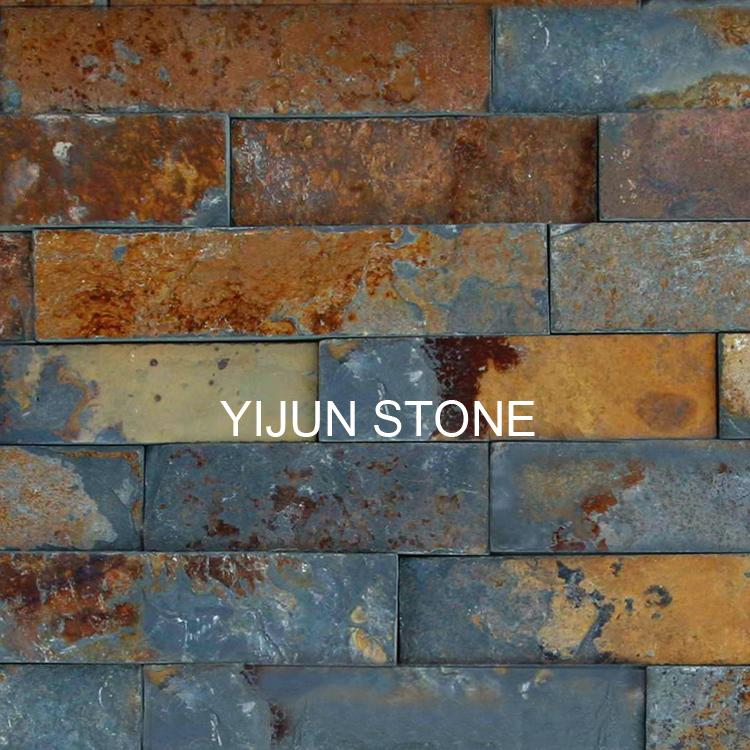 YIJUN STONE/ Natural slate stone/Rusty stone/ Fireplace stone