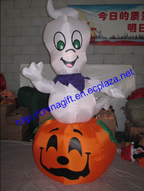 2.7M Inflatable Rotating Ghost on a Pumpkin