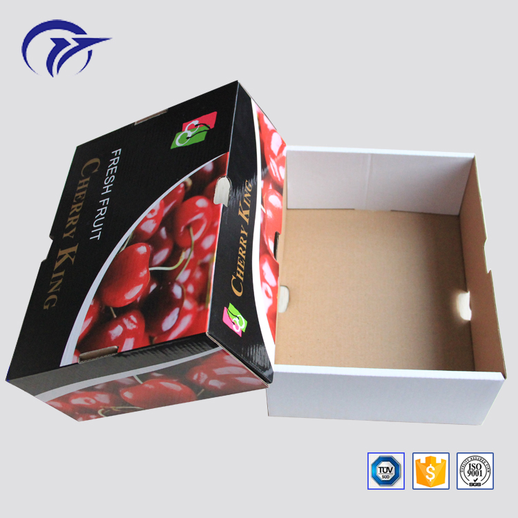 Customized printing top and bottom cover type fruit packaging tray corrugated paper gift box
