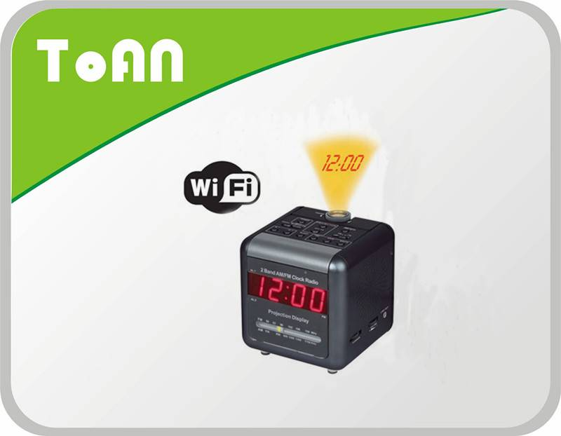 TOAN What a So delicate WI-FI Alarm Clock dvr camera alarm clock hidden camera with Radio!!!