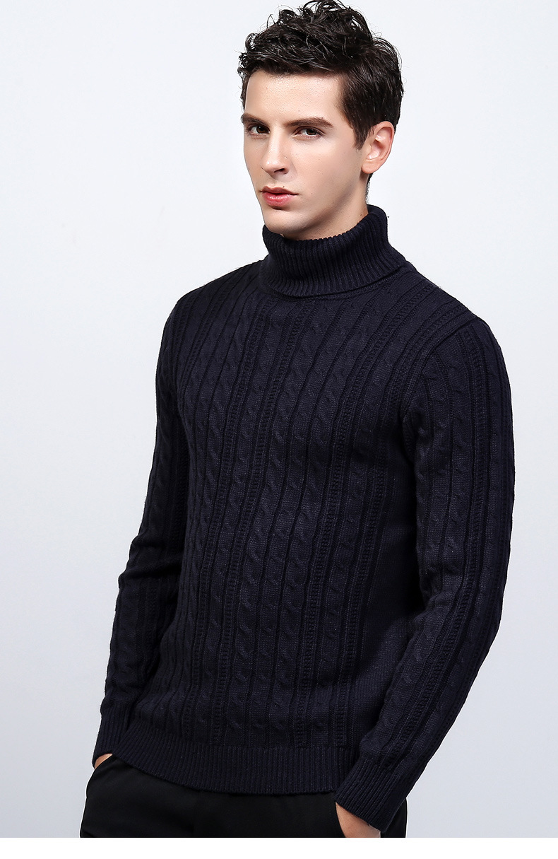 High-necked Men Base Sweater