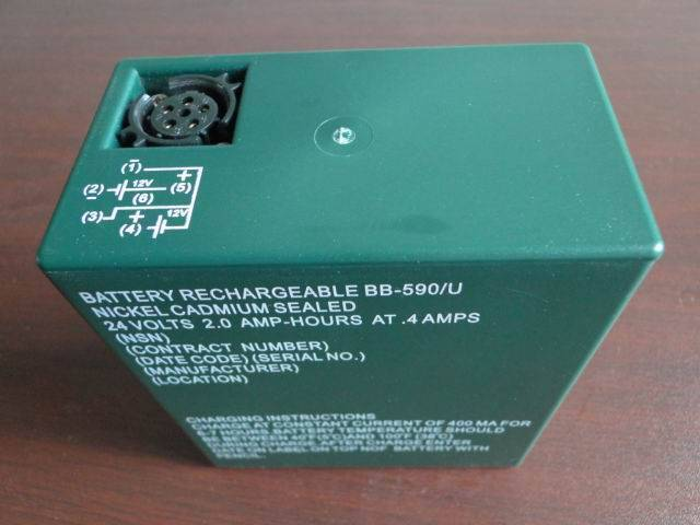 Rechargeable Nickel Cadmium Military Battery BB-590/U