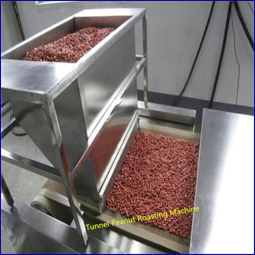 Tunnel peanut roaster, nuts roasting machine