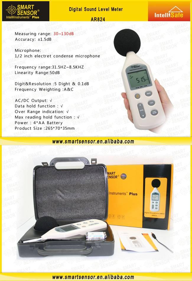 Smart Sensor Sound Level Meter AR824