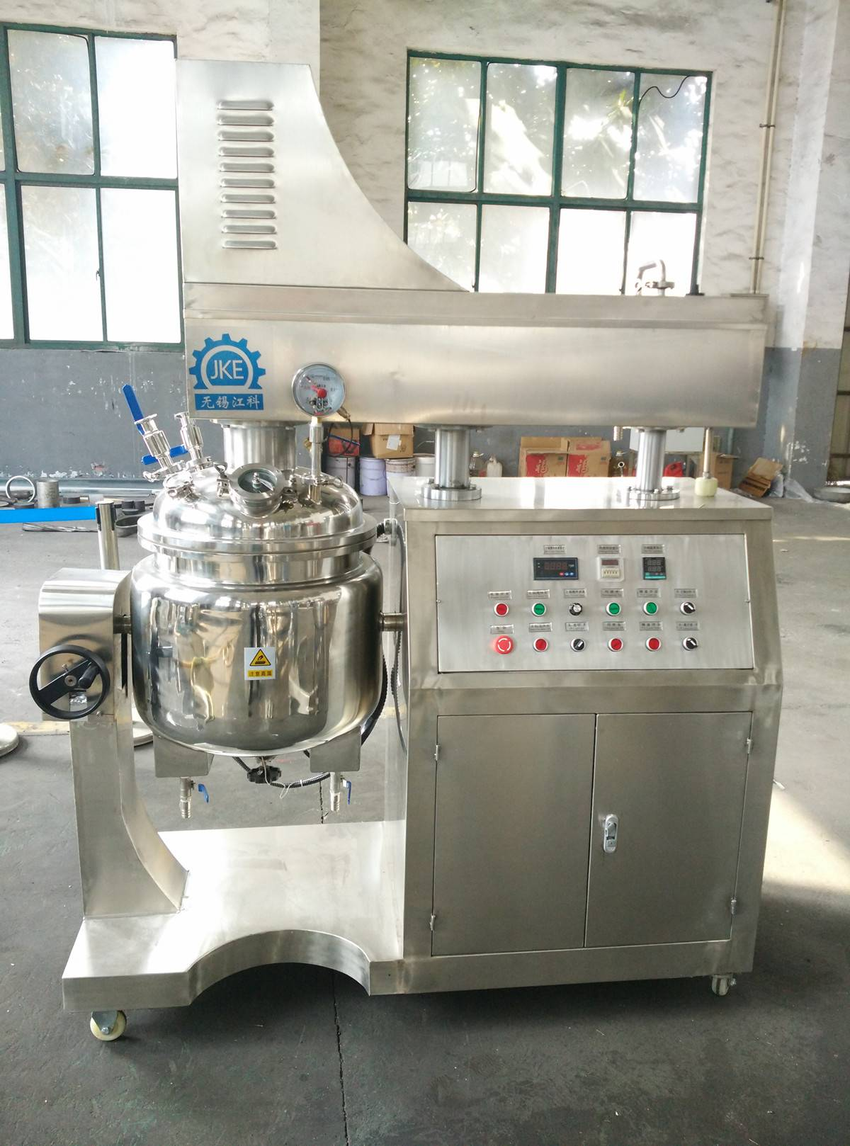 CE Approved Automatic Lotion Lipstick Mixer Cosmetic Cream Gel Making Machine with High Speed Homoge