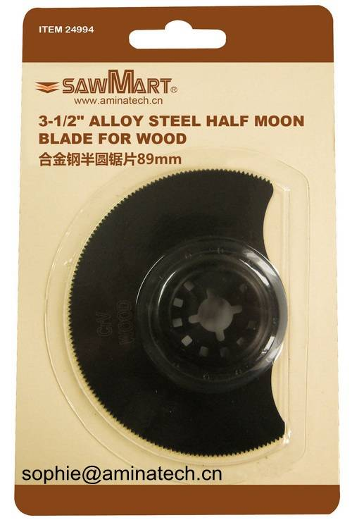 3-1/2 in. High Carbon Steel Multi-Tool Half-Moon Blade For Wood
