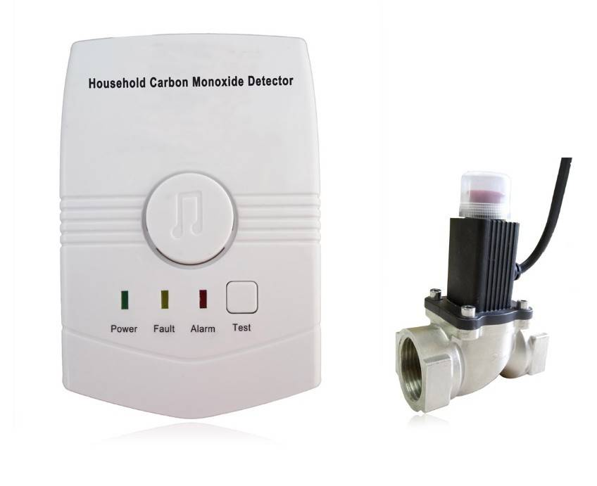 Wireless CO Carbon Monoxide Leak Detector With Shut Off Valve Solenoid Valve