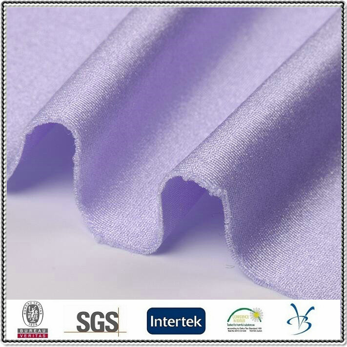 polyester spandex shinny bright stretch fabric for swimwear yoga blend