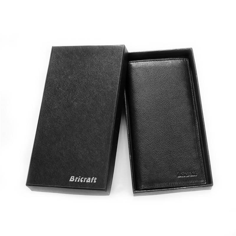 Long Slim RFID Wallet for Men Bifold, Hack-Proof Checkbook Travel Wallet Bifold RFID Shield