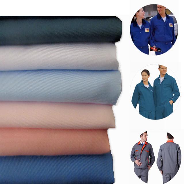 Polyester Cotton Twill Dyed Fabric Workwear Uniform Fabric Khaki