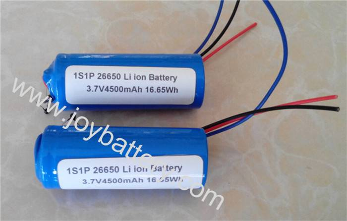 rechargeable li-ion cylinarical battery 26650 3.7V 4500mah