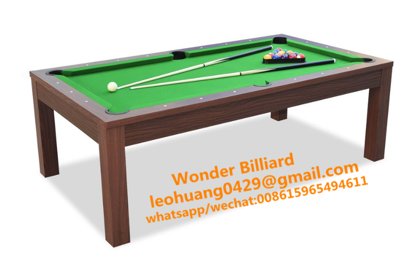 7ft &8ft 2 in 1 dining pool table with desk