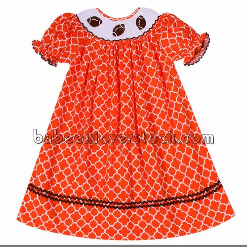 Beautiful rugby smocked bishop dress for little girls - BB1027