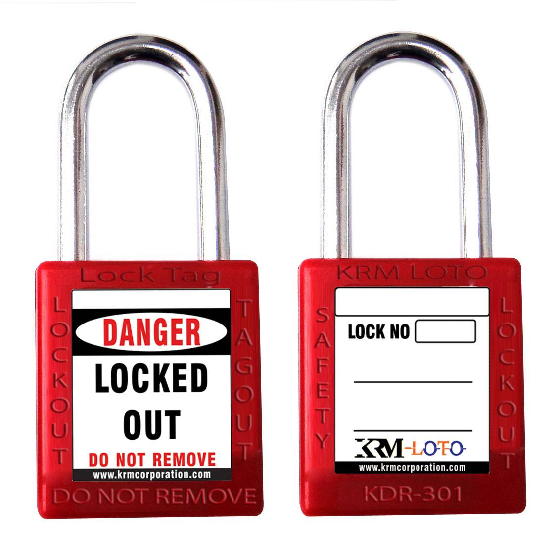 Safety Lockout padlock with differ key- Red