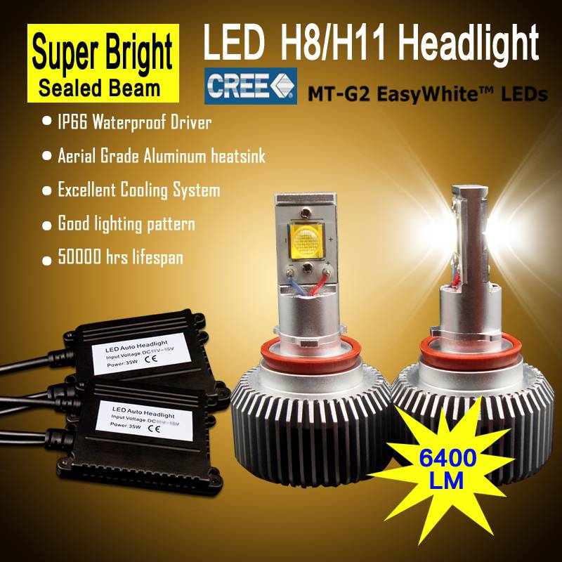 new design CREE CHIP auto car headlight h11 led