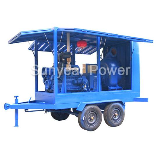 Intelligent Mobile Diesel feed water pump (self-priming centrifugal pump)Mobile emergency rescue sew