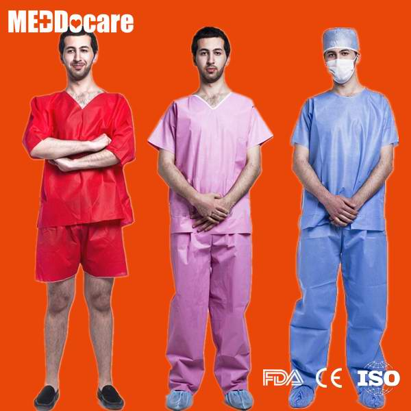 Disposable Hospital Surgical Nursing Scrub Suits for Nurses Women