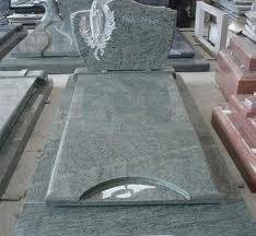 Big slab headstone granite tombstone with carving