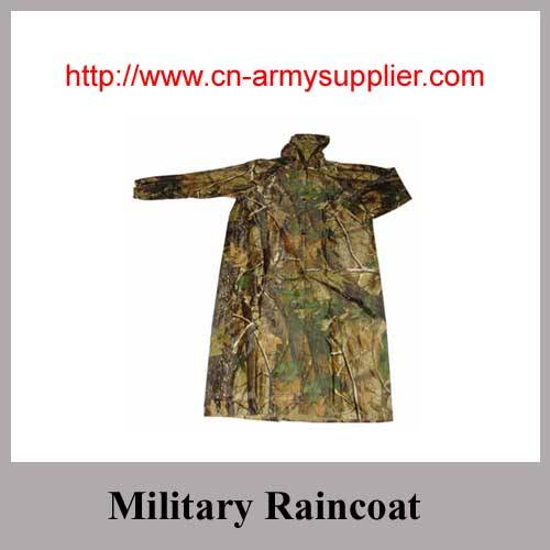 Camouflage Nylon Oxford Polyester Army Military raincoat