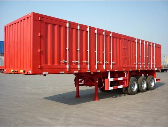Van truck trailer / Tri axle strong box trailers