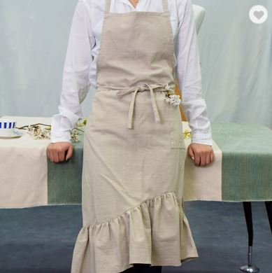 Home necessity Marvellous frill cotton apron made in South Korea