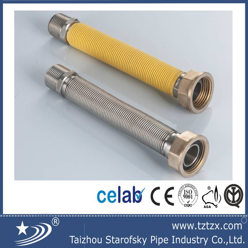 counter flexible gas hose with brass fitting