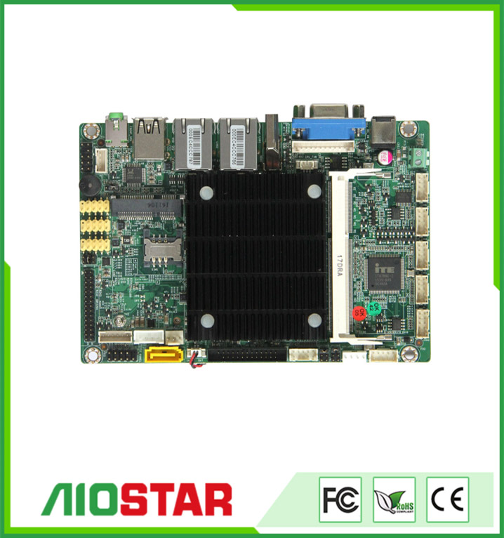 fanless board, 3.5 inch industrial motherboard with J1900 CPU