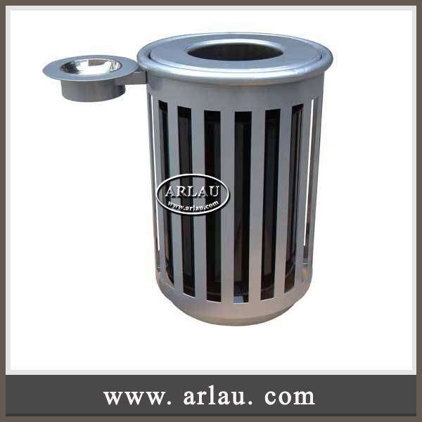 Arlau Outdoor Furniture 2016,Garbage Container Outdoor,Metal Hotel Waste Recycling Bin