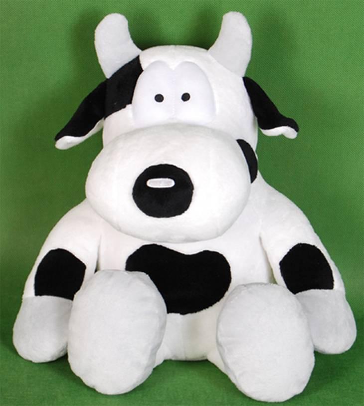 Super soft sitting cow plush toy