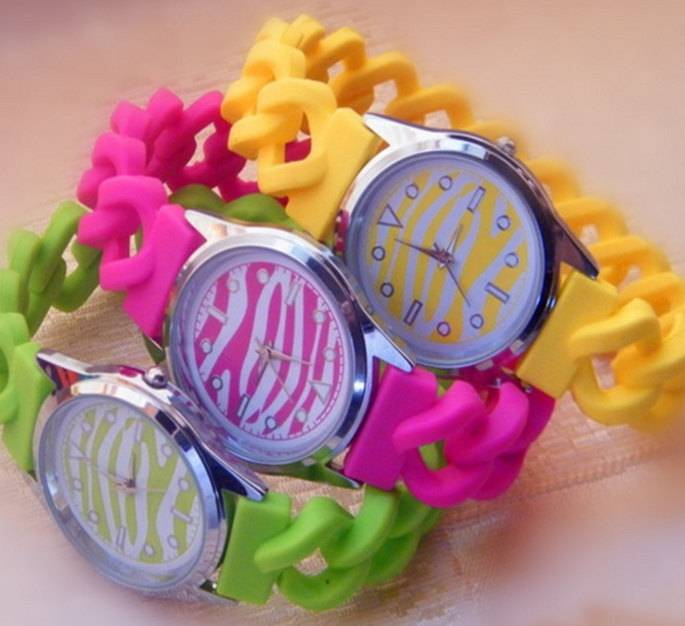 candy twisted silicone promotional gifts silicone watch sport pocket watch