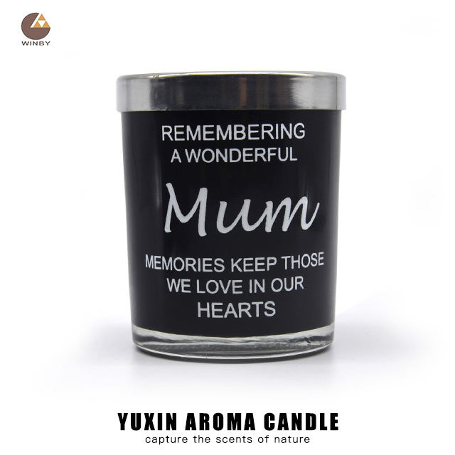 Wholesale Decorative Glass Candle Jar Aroma Scented Candle