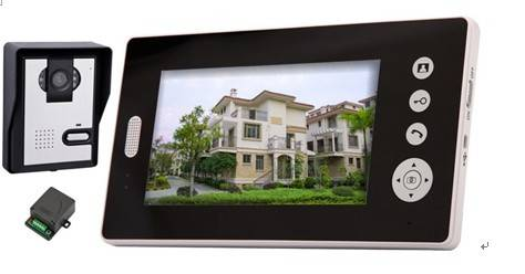 night vision function 7 Inch hands free wireless video door phone entry system with lock function