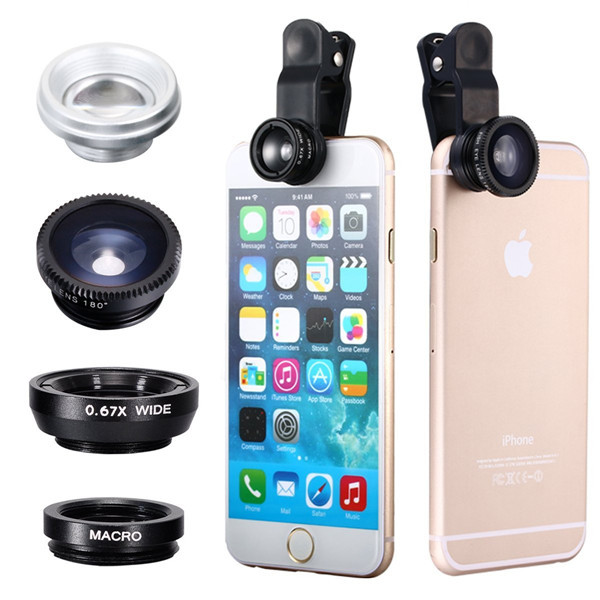 2016 New Fish Eye Clip Mobile Phone Camera Lens