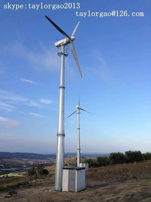 YANENG 20kw wind turbine, elecrtic pitch control, electric yawing for farm, industry